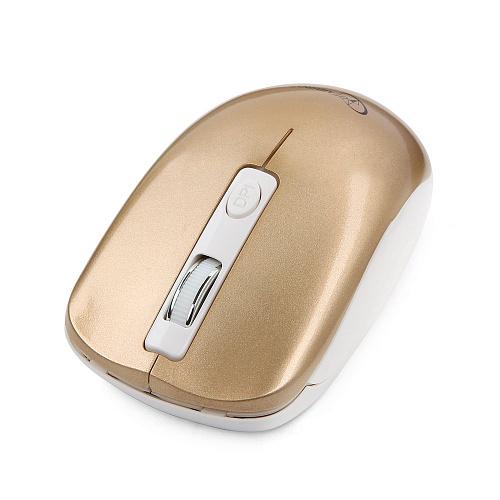 Мышь беспров. Gembird MUSW-400-G, золотой, 3кн.+колесо-кнопка, 2.4ГГц, 1600 dpi